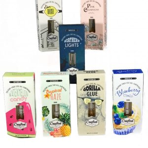 Crafted Cannabis Solvent Vape Oil Cartridges