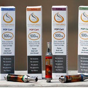 POP Naturals Cannabis Oil Cartridges