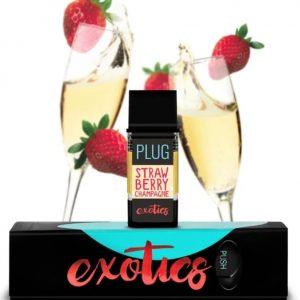 Buy PLUGPlay Exotics Strawberry Champagne Vape 1G Cartridge