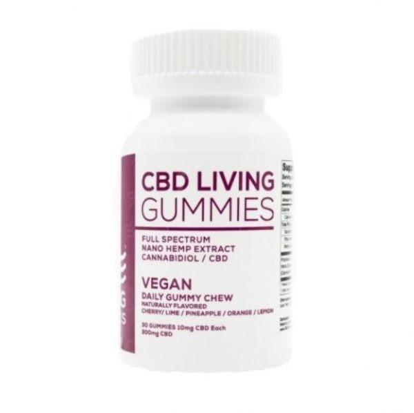 Buy CBD Living Vegan Gummies Bottle