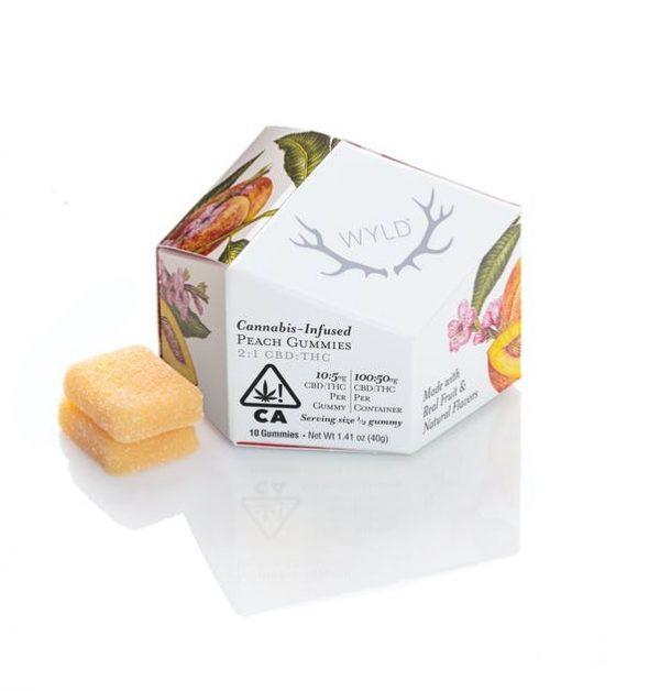 Peach 2 1 CBD + Hybrid Enhanced Gummies 100 50mg