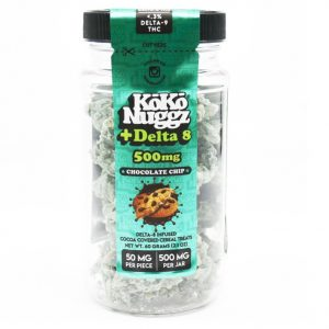 Koko Nuggz Fortified Delta 8 Edibles Chocolate Chip